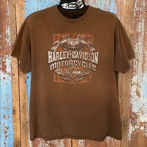 Harley Davidson Brown Lethbridge Tee